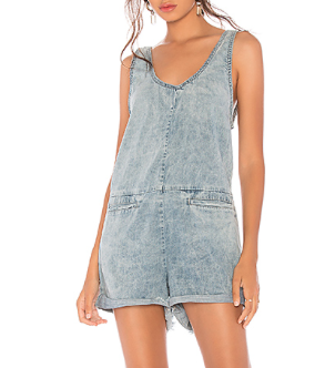 ONE TEASPOON DENIM ROMPER IN ROCKY