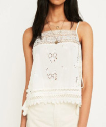 Free People - Caraco Garden Party blanc