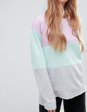 BOOHOO – SWEAT-SHIRT EFFET COLOR BLOCK