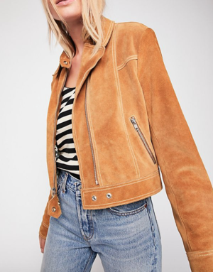 IN THE STREET SUEDE JACKET free people