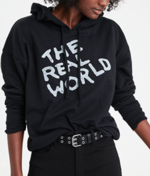AE X MTV GRAPHIC HOODIE, TRUE BLACK