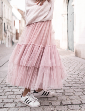 JUPE TULLE ROSE PRETTY WIRE