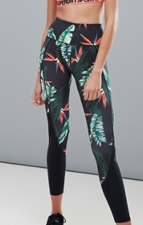SUPERDRY – LEGGING À IMPRIMÉ TROPICAL