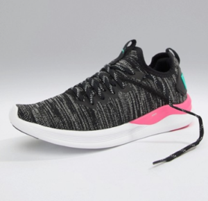 Puma – Ignite Flash EvoKnit – Baskets de course – Noir