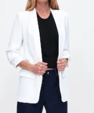 VESTE EN CRÊPE blazer blanc zara