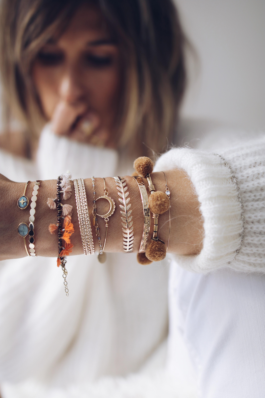 ACCUMULATION DE BRACELETS ET JONC, bijoux addict, bracelets lover