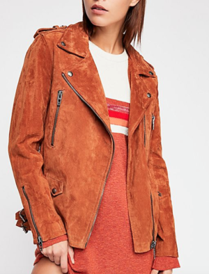 LONG SUEDE MOTO JACKET free people