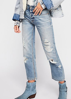 RUGGED STRAIGHT JEANS FREE PEOPLE