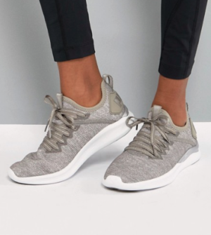 PUMA – IGNITE FLASH EVOKNIT – BASKETS DE COURSE – TAUPE