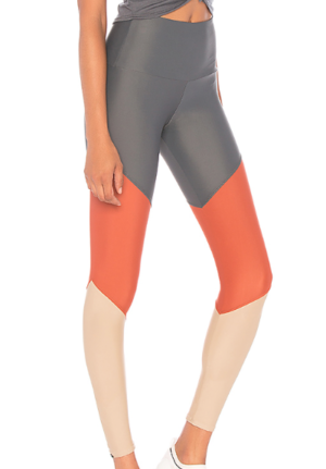 ONZIE HIGH RISE TRACK LEGGING IN COPPER COMBO
