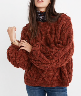 MADEWELL X MANOS DEL URUGUAY™ CABLEKNIT PULLOVER