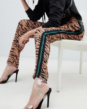 Na-kd – Pantalon de survêtement à imprimé tigre et à rayures