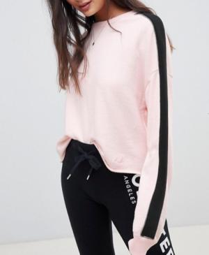 Hollister – Sweatshirt col ras du cou avec bande sur les manches