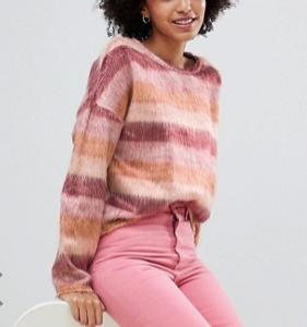 New Look – Pull texturé à rayures