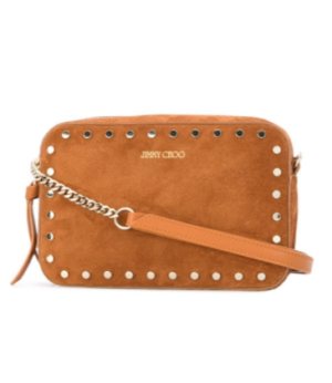 JIMMY CHOO QUINN CROSSBODY BAG – BROWN