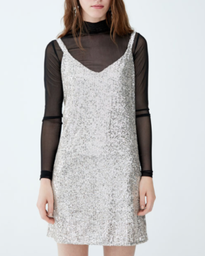 Robe soirée paillettes PULL AND BEAR