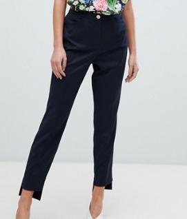 Ted Baker – Rivaat – Pantalon ajusté avec ourlet asymétrique