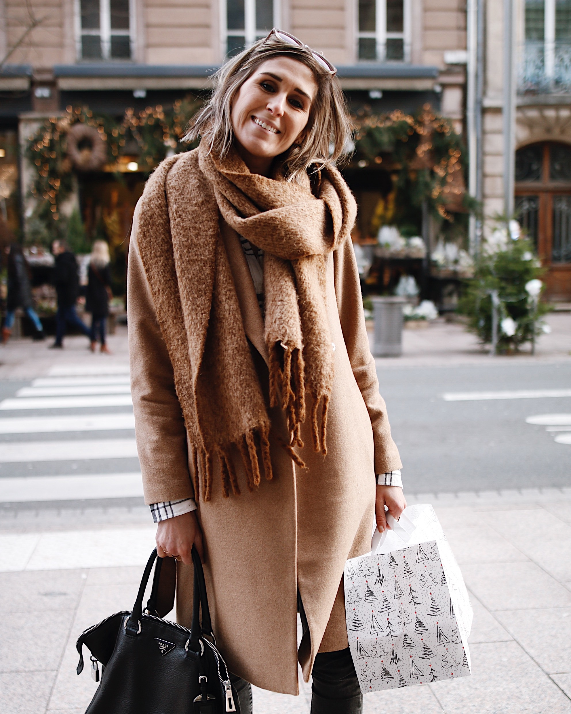 manteau long camel