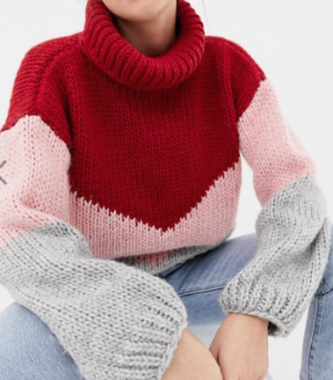 OneOn hand – Pull en maille en color block