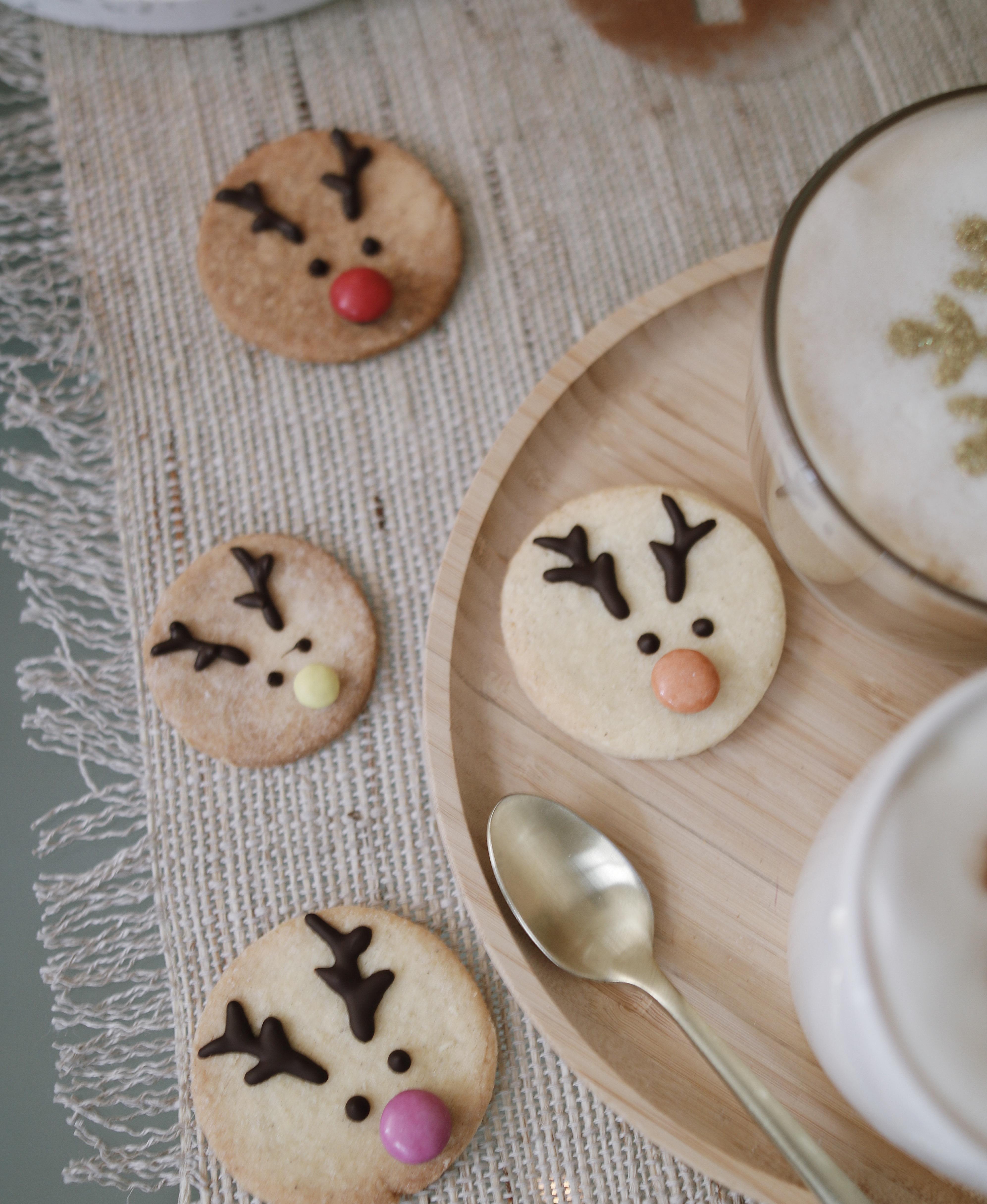 sablés renne de Noel, rodolphe cookies, sablés noêl