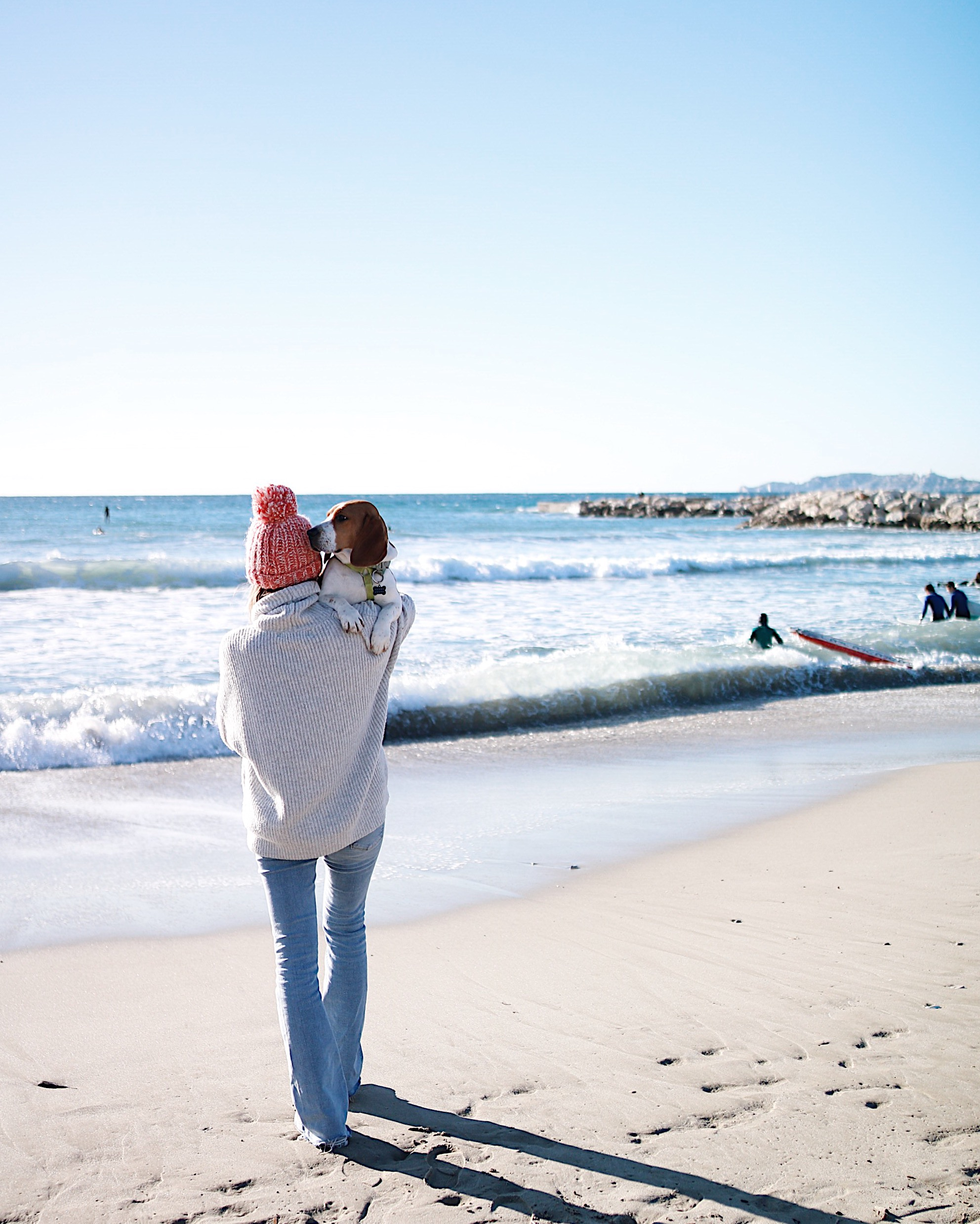 BEACH DAY with Natcho, oversize int sweater, bonnet orse, beach girl
