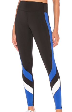 SPLITS59 VENICE LEGGING IN BLACK, ROYAL & OFF WHITE