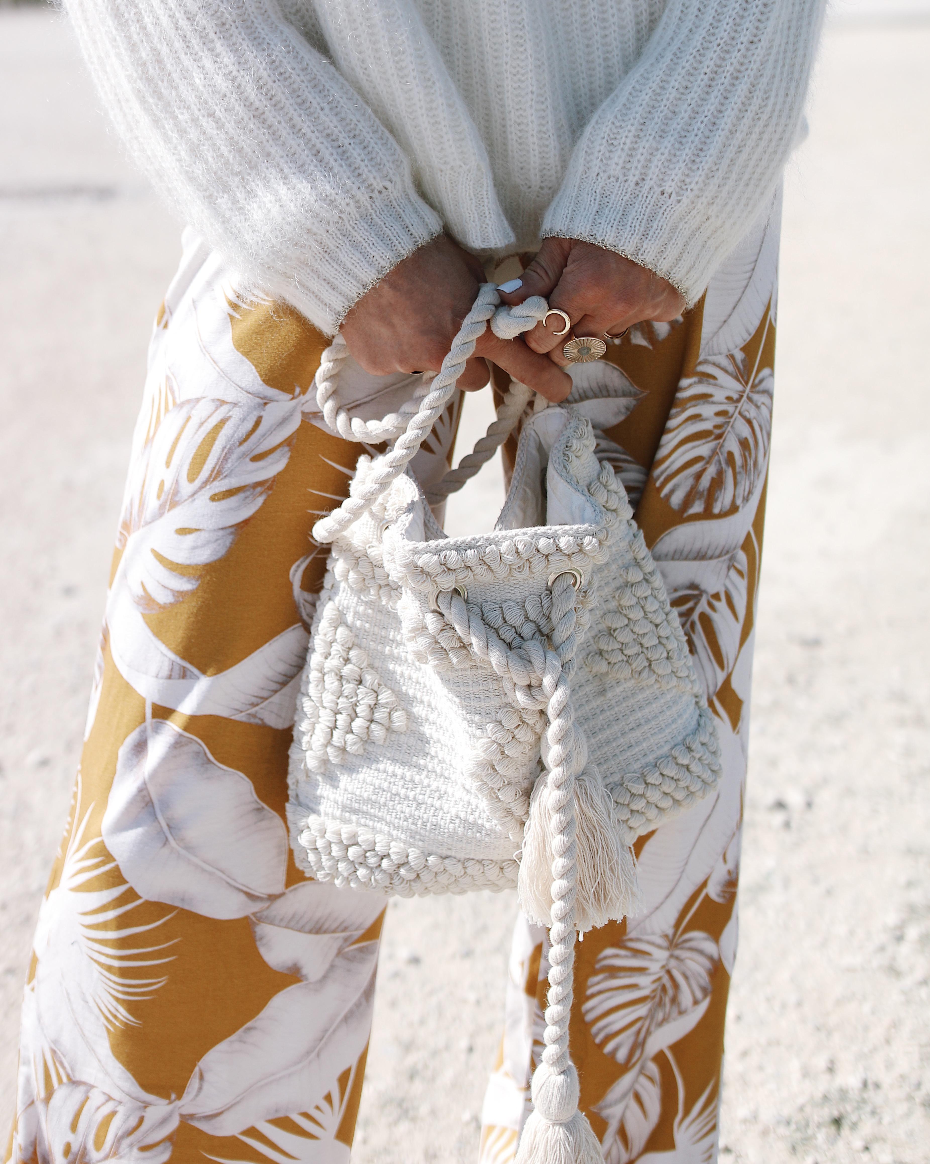 PALM FLARE -Chon & CHON WWW.CHONANDCHON.COM pantalon large imprimés palmier, look de printemps