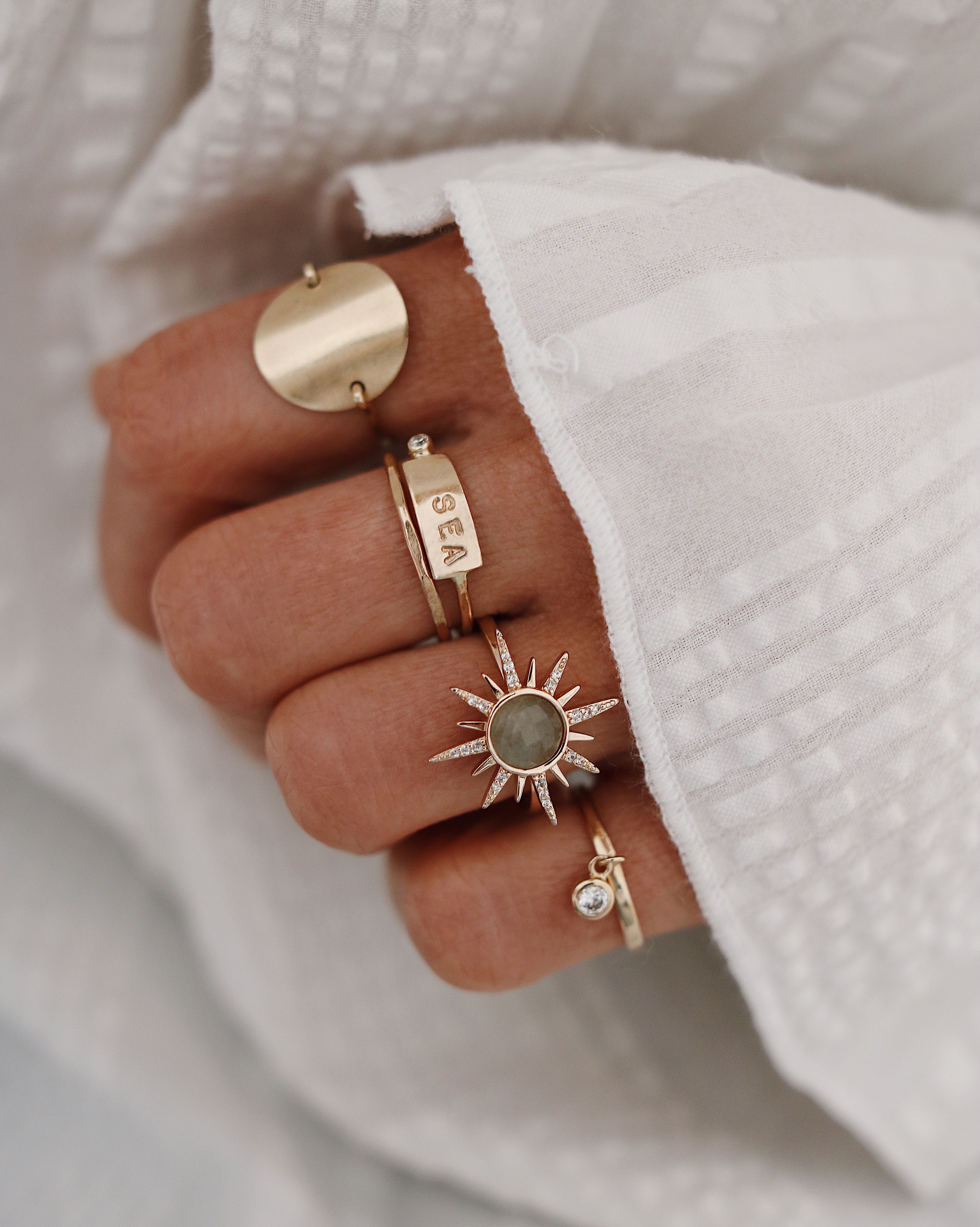 Chon & CHON - WWW.CHONANDCHON.COM RINGS SET, gold rings, jewelry addict, rings layering, accumulation bagues or, bijoux lover, bijoux addict
