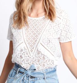 tee-shirt en dentelle blanc pimkie
