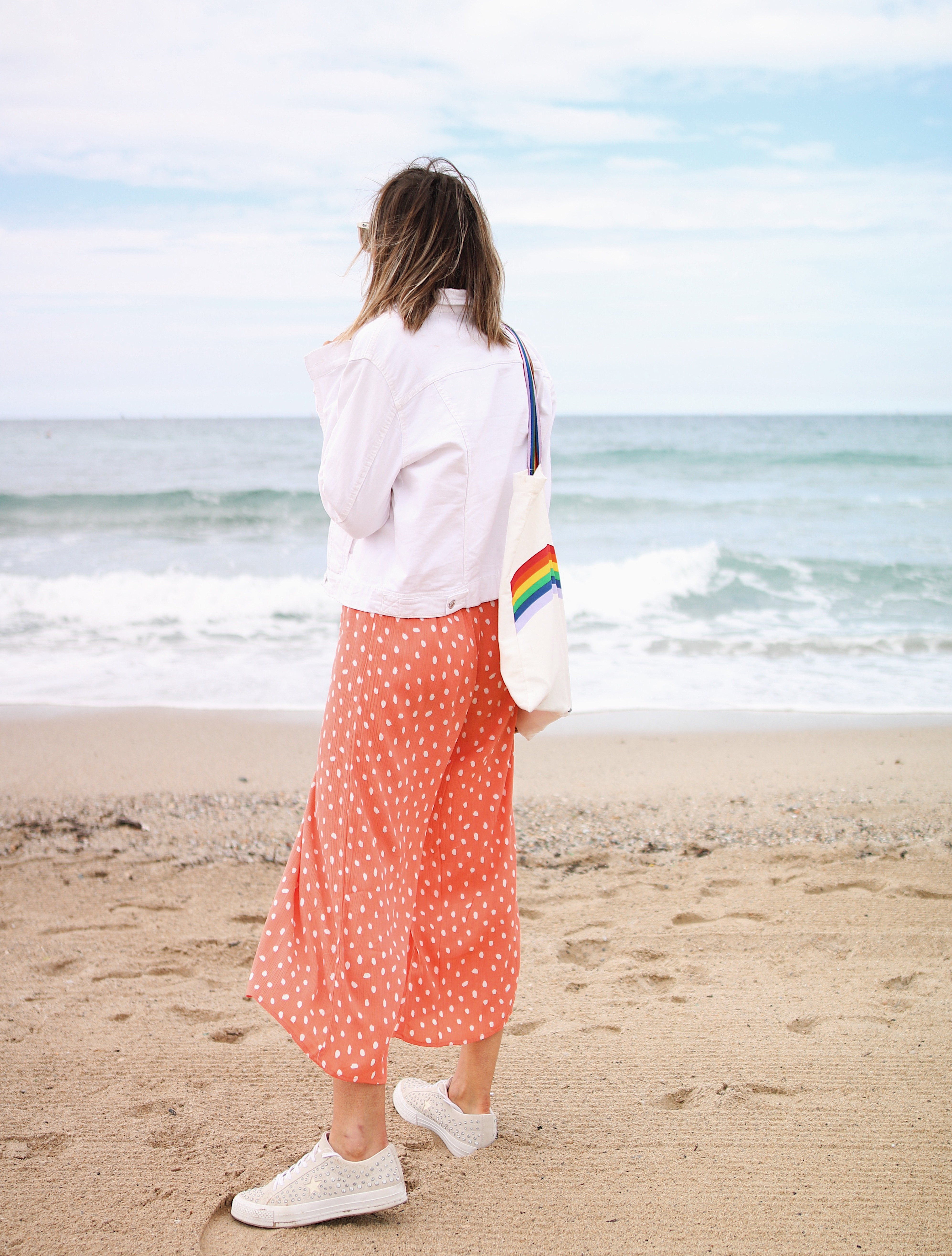 Chon & CHON - www.chonandchon.com - dot orange - combinaison été orange pois, jumpsuits style, look été combinaison corail, summer look, summer style, jumpsuits