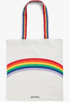Tote bag rainbow arc en ciel monki