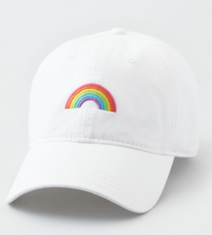 AEO RAINBOW BASEBALL HAT american eagle