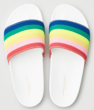 AEO RAINBOW POOL SLIDE SANDALS american eagle