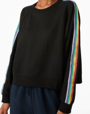 Rainbow stripe sweatshirt MONKI