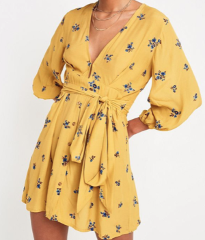 Faithfull The Brand – Mini robe à fleurs jaune URBAN OUTFITTERS