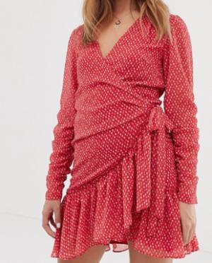 AllSaints – Flores – Robe courte à imprimé cœurs