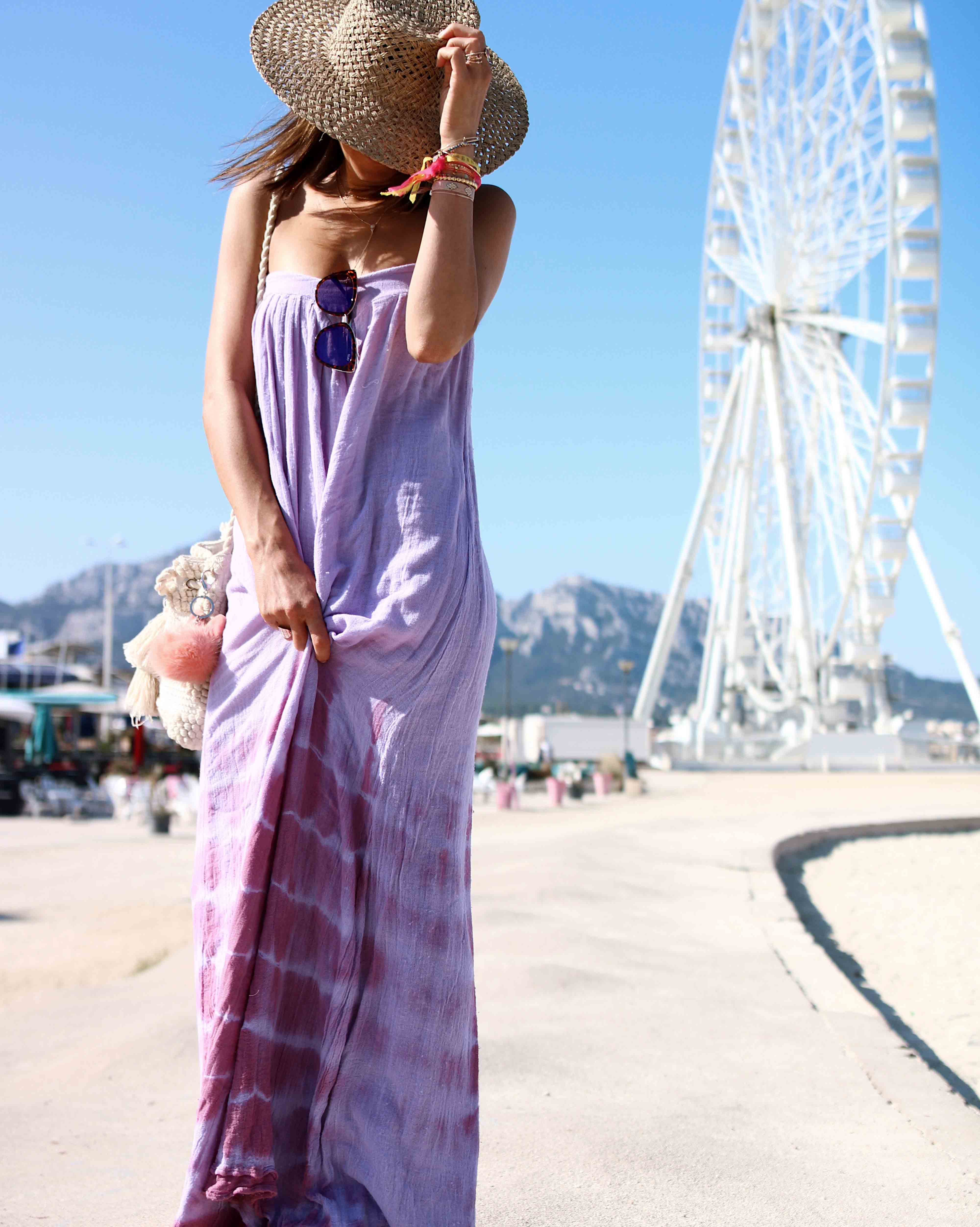 @chon.and.chon - WWW.CHONANDCHON.COM _ PURPLE TIE AND DYE MAXI DRESS, summer maxi dress, jen's pirate booty maxi dress, robe longue été tie and dye, robe longue violet
