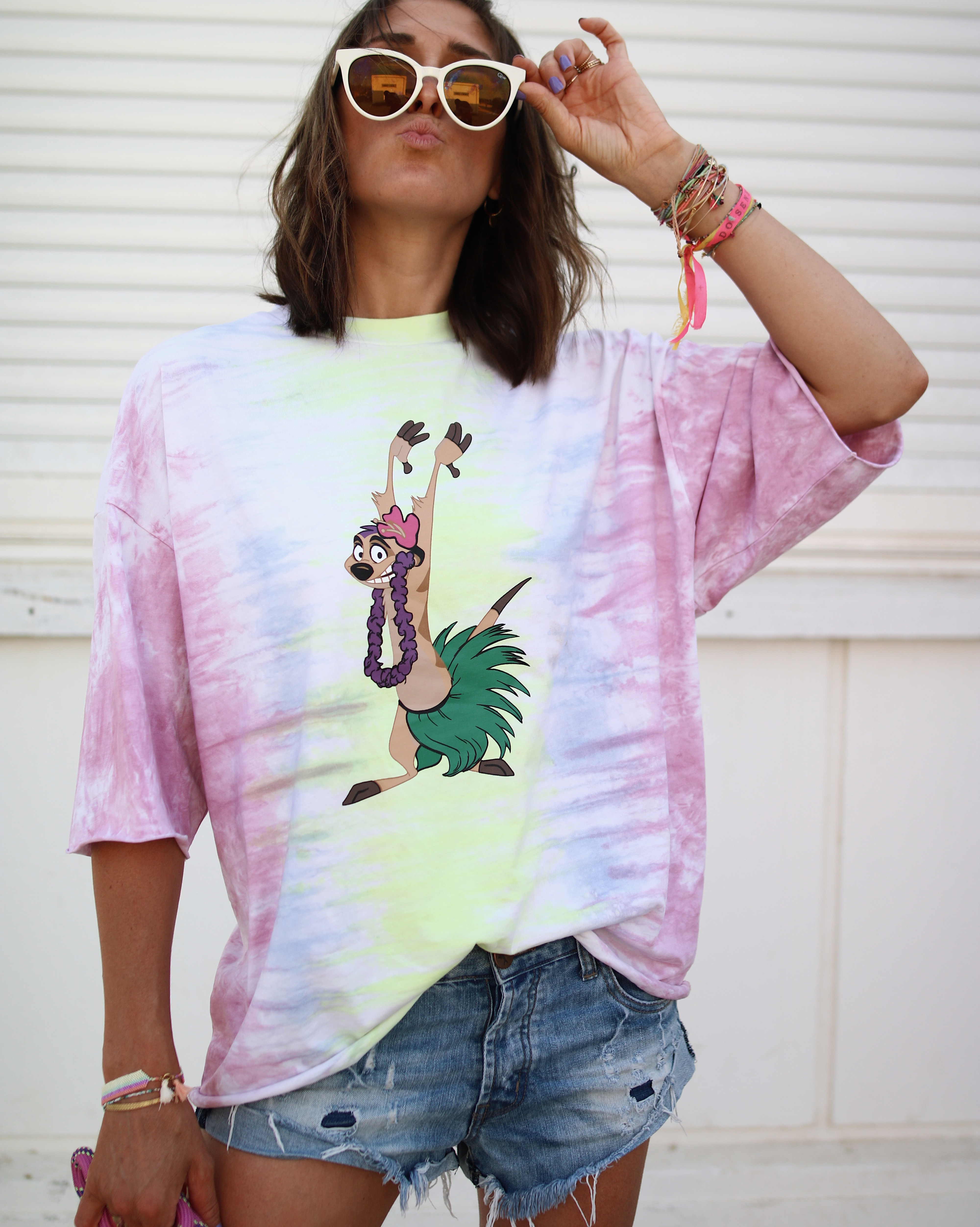 @chon.and.chon www.chonandchon.com - LION KING TEE - tie and dye tee, timon t shirt, tie and dye top, casual summer look