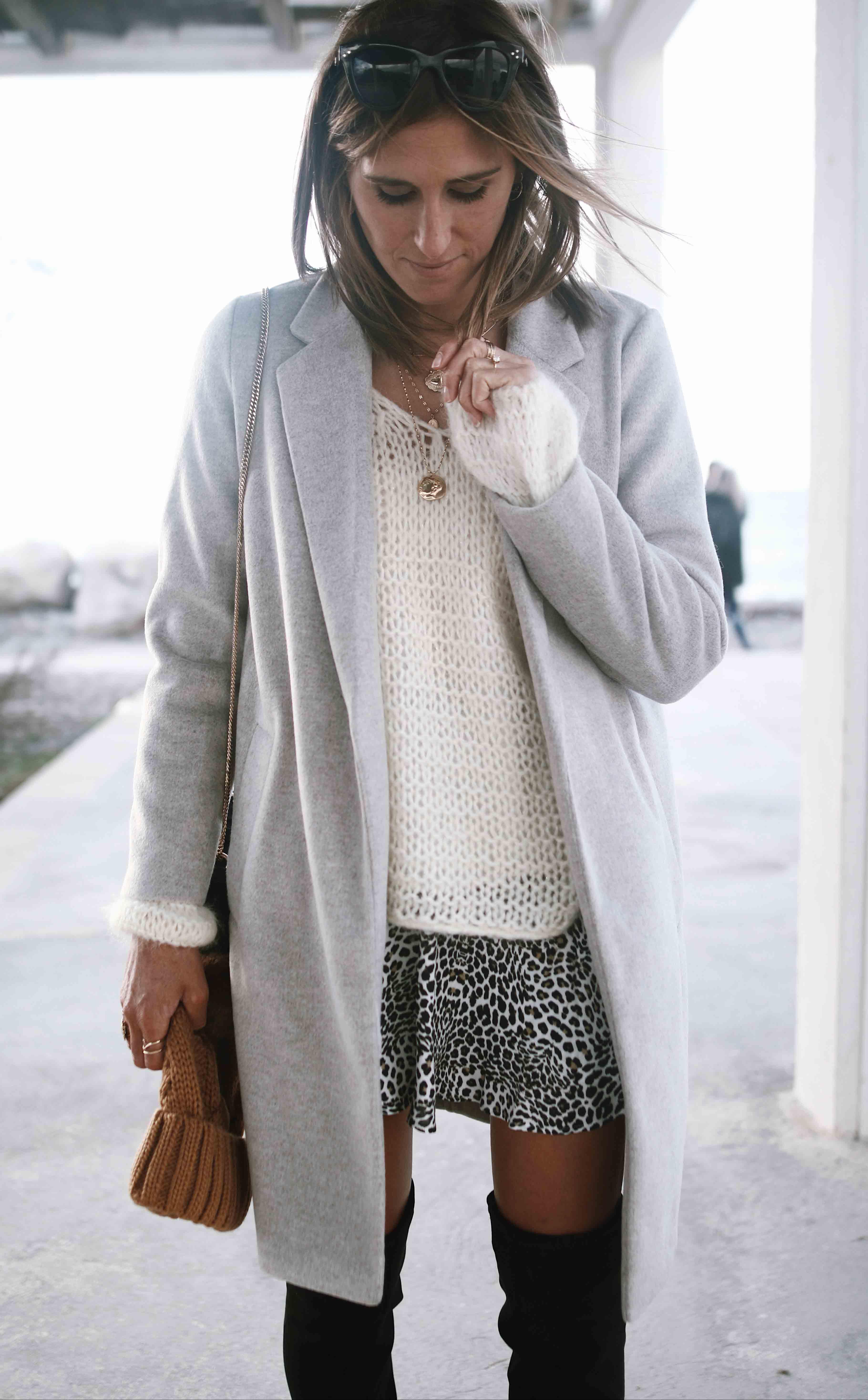 CHON & Chon - @chon.and.chon mini jupe lepoard, cuissardes, manteau laine pull laine