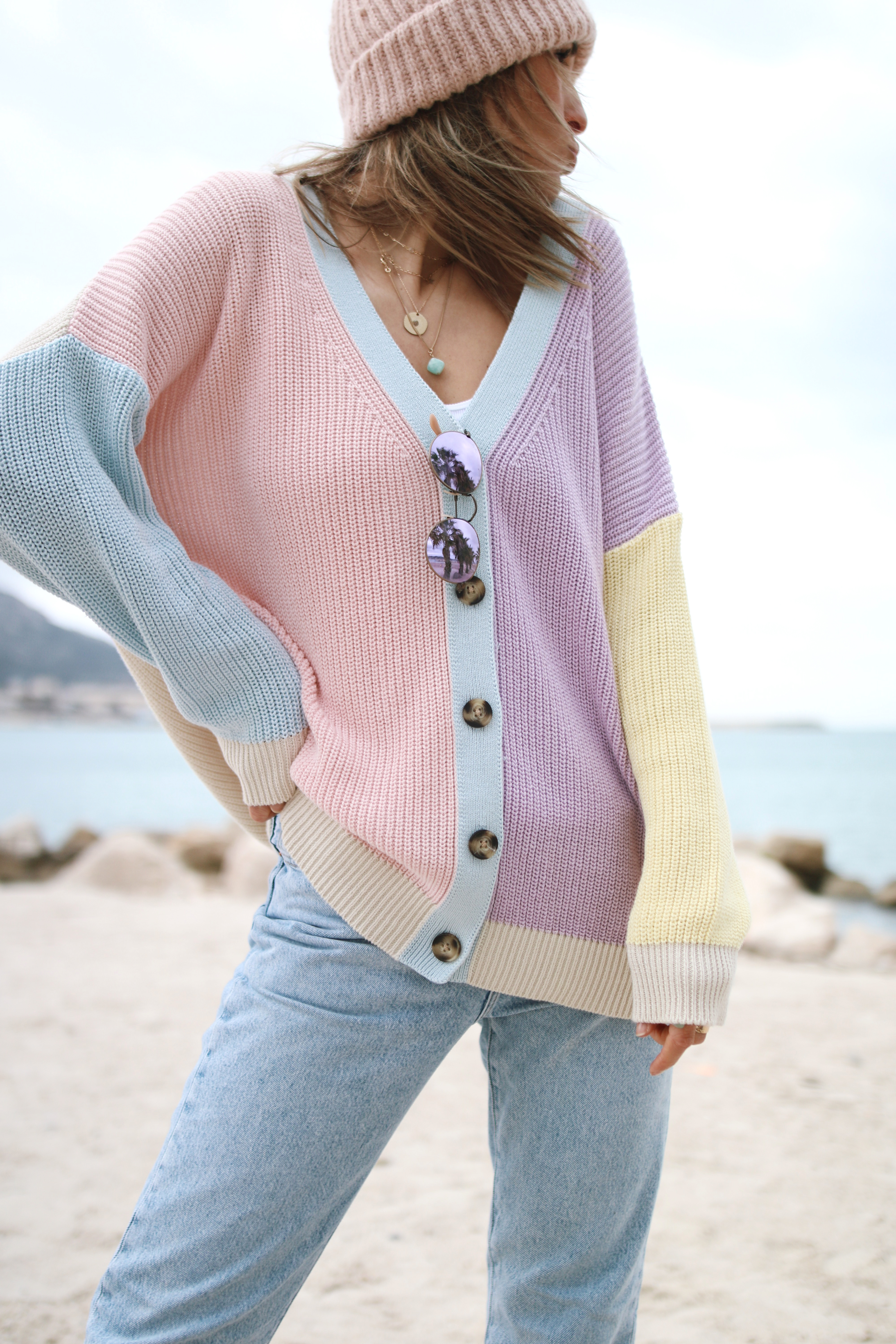 @chon.and.chon cardigan et jeans look