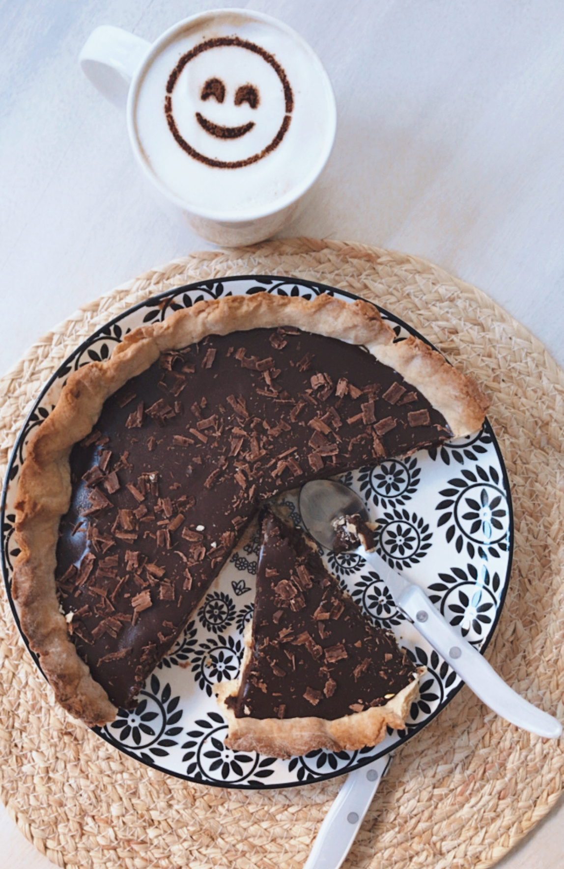 recette tarte chocolat banane, tarte au chocolat, tarte au chocolat facile