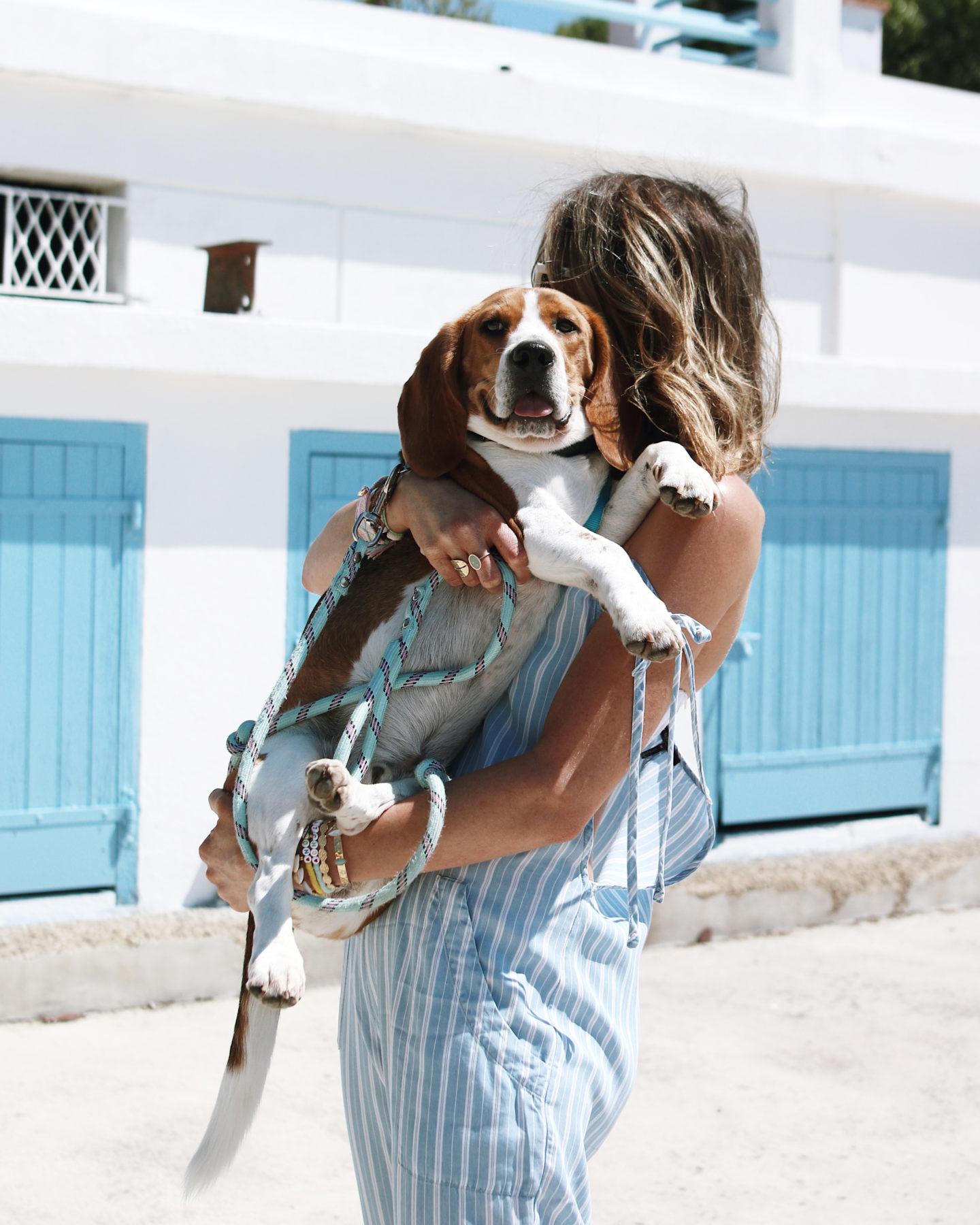 summer outfit, combinaison bleu , fashion blogger