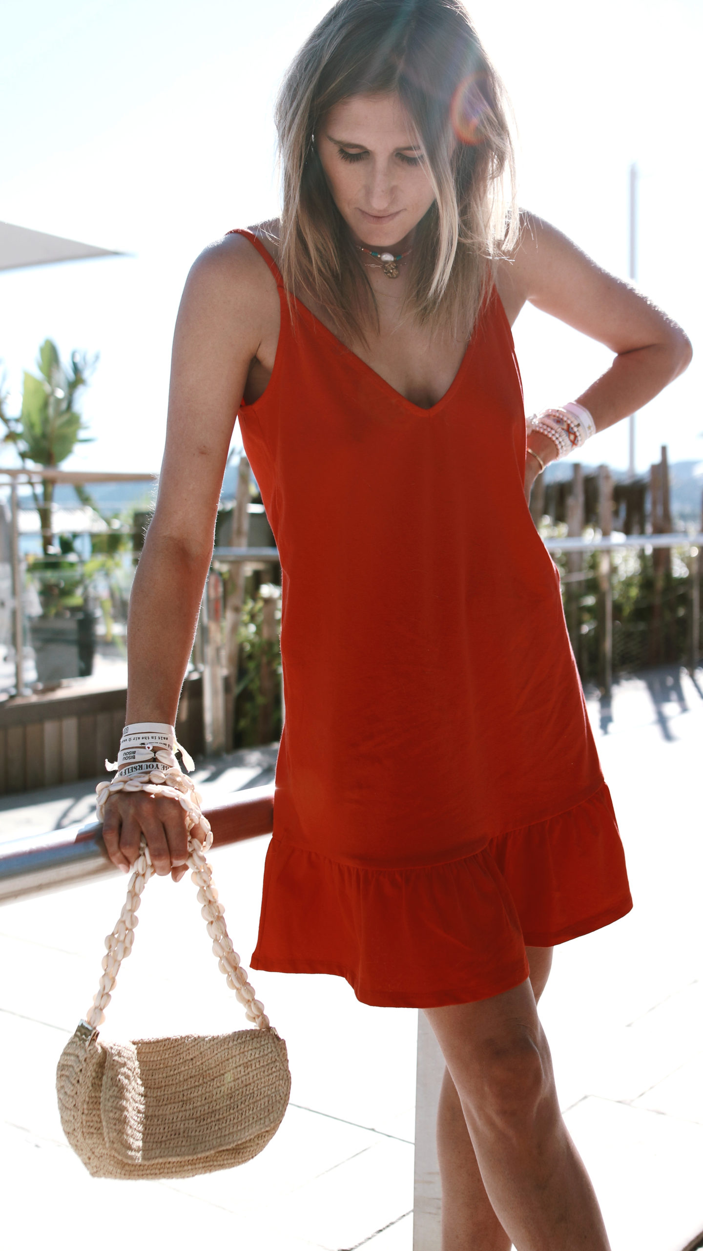 @chon.and.chon red summer dress, mini dress, ootd, fashion blogger