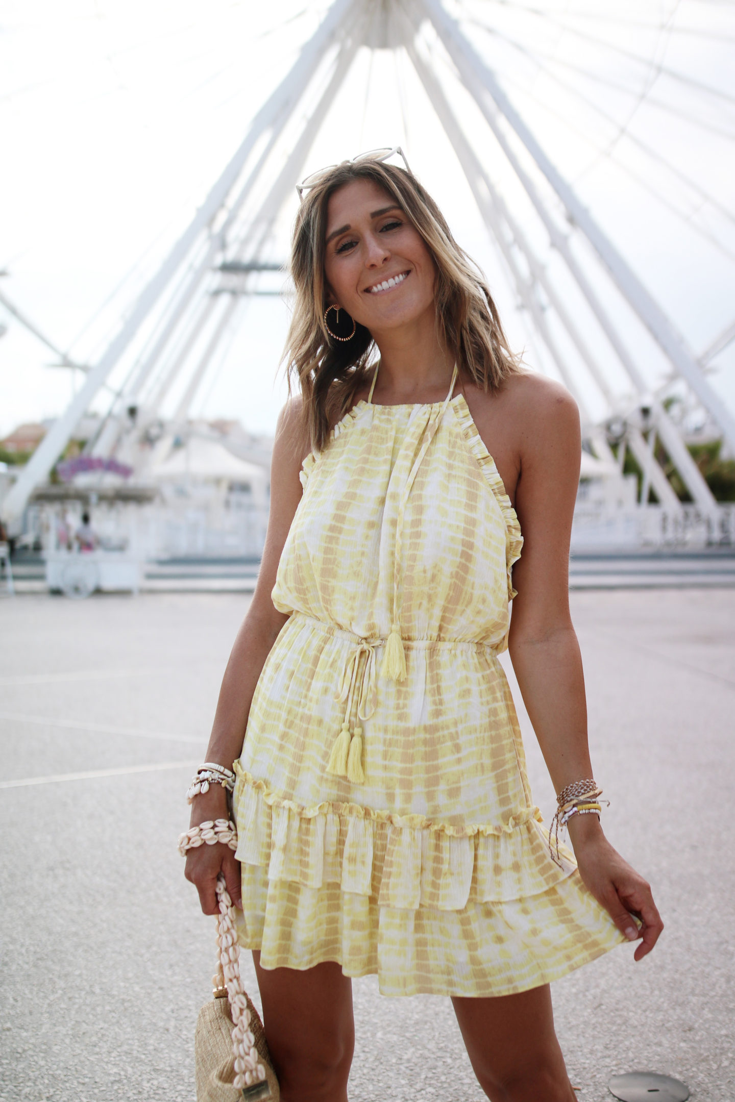 majorelle yellow mini dress - Chon and chon