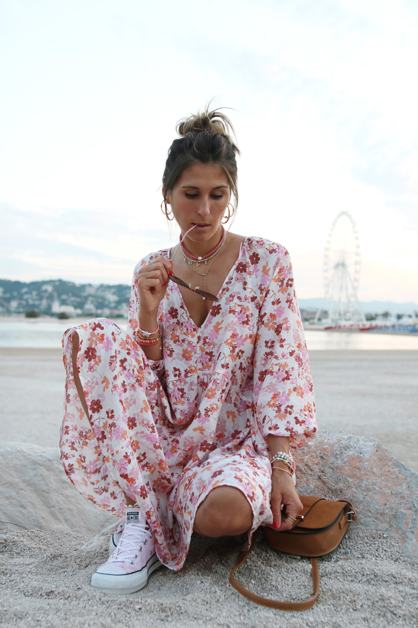 robe courte fleurie h&m