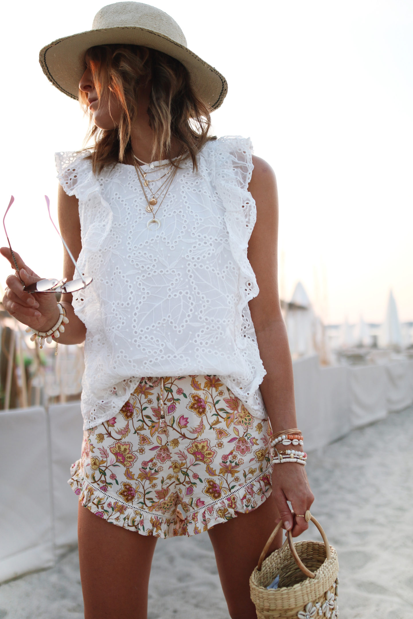 @chon.and.chon summer outfit, white top