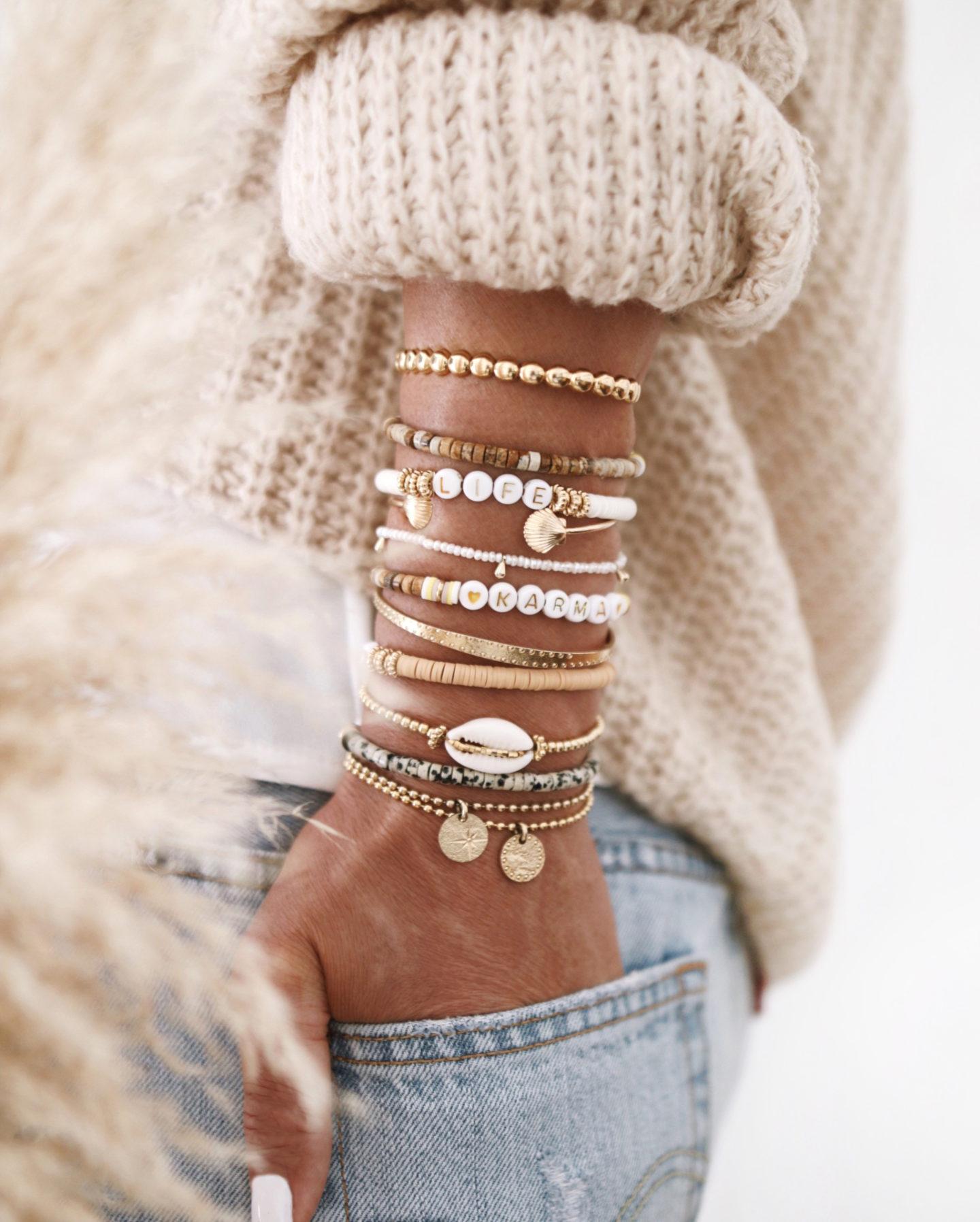 jewelry addict, bracelets, bracelets surfeurs, accumulation bijoux