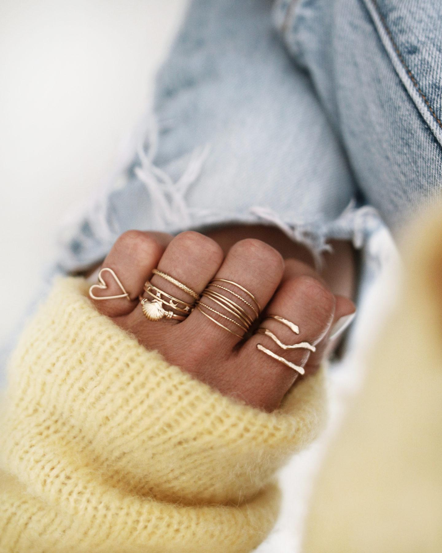 RINGS, gold jewelry, bijoux addict