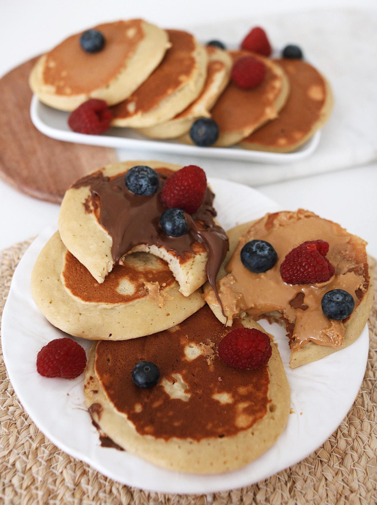 panaches healthy, pancakes légers, pancake compote, recette pancake