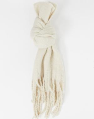 Monki – Elsa – Écharpe en tissu recyclé – Beige